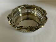 Lunt Silversmiths Antique Impeccably Designed Silver Peirced Candy Bowl