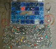 1400 Pc Fancy Charm And Bead Jewelry/bracelet Making Lot/kit Funds Go 2 Charity