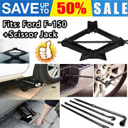 For 2004-2014 Ford F150 Lug Wrench Spare Tire Tool Set Kit Repair + Scissor Jack
