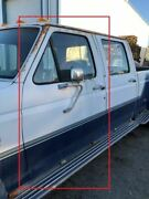 1990 Ford F350 Used Lh Left Drivers Front Power Door White/blue 4 Bolt Mirror