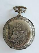 Antique Goliath Pocket Watch Train Signed Mappin And Webb London - 70mm