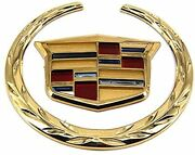 Cadillac Escalade 24k Gold Front Grille Wreath And Crest Emblem 2015 Only