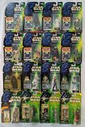 Star Wars Green Card Slide/chip/file Power Of The Force Action Figure Lot Of 16