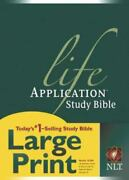 Nlt Life Application Study Bible, Second Edition, Large Print [red Letter, Hardc
