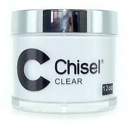 Chisel Nail Art 2 In 1 Acrylic Dipping Powder - Clear Refill 12 Oz