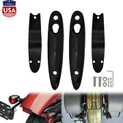 Black Rear Turn Signal License Plate Relocation Kit Fit For Harley Softail 00-up