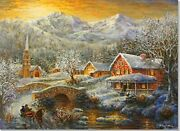 A Winter's Glow Deluxe Boxed Holiday Cards Christmas By Peter Pauper Press New