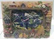 Bird Birdhouse / Nest Flowers Detailed Photo Picture Frame W/ Cardinal Picture