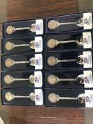 50 State Quarter Spoon Set With Spoon Rack