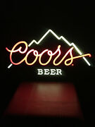 Original Coors The Rocky Mountain Beer Sign Lighted Bar Sign November 1984