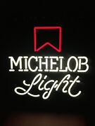 Vintage Michelob Light Beer Sign Lighted Bar Sign Anheuser-busch 18andrdquo X 18andrdquo