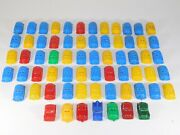 Lot 66 Vtg 1950and039s Wyandotte Ideal Plastic Mold Toy Car Truck Retro Kids Play Set