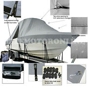 Boston Whaler 18 Dauntless Center Console Fishing T-top Hard-top Boat Cover Grey