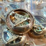 2inch Brass Sundial Push Button Compass Marine Handmade Solid Style Lot Of 50
