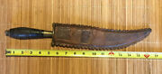 See 1900 Mexican Scorpion Tail Bladed Dagger/fighting Knife, Original Sheath