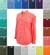 Magellan Outdoors Menand039s Fishing Shirt Laguna Madre Solid Long Sleeve Relaxed Fit