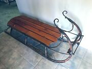 Antique Sleigh Coffee Table Rustic Shabby Chic Sled Holiday Christmas Lodge