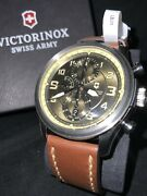Victorinox Swiss Army Infantry Vintage Green Dial Automatic Chrono 241448 Watch