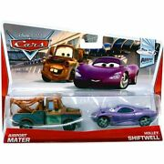 Disney Cars Series 3 Airport Mater And Holley Shiftwell Diecast Car, 2 Pack