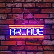 Arcade In Blue And Red Neon Signs Custom Beer Pub Club Decor Neon Open Sign