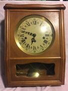 Vintage Handcrafted German Wall Chime Clock