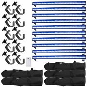 Halloween Decor Blacklight Haunted House Party 10 Pack W/ Storage Cases+clamps