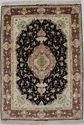 Classic Pictorial Extra Fine Wool And Silk 5x7and0395 Area Rug Oriental Home Carpet