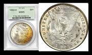 1884-o 1 Ms65 Pcgs-rare Monster Gold Rainbow Muliple Toning - Morgan Dollar