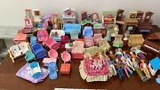 Fisher Price Loving Family Lot People Furniture Piano Ballet Twins Sounds Tvs