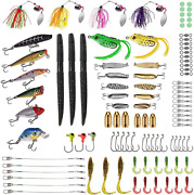 Plusinno Fishing Lures Baits Tackle Including Crankbaits, Spinnerbaits, Plastic
