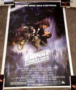 George Lucas Signandeacute Star Wars The Empire Strikes Arriandegravere F/s Full Taille Poster