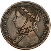 Great Britain And South Africa Second Boer War Satirical Engraved Copper Penny