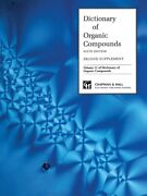 Dictionary Organic Compounds Sixth Edition Supplement 2