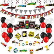 Decorlife Cars Party Decorations Race Car Birthday Party Supplies Happy Birthd