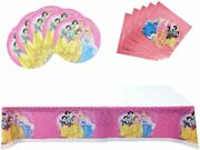 Party Supplies For Disney Princess, 20pc Party Plates,20pc Party Napkins,1pc Tab