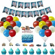 56 Pcs Cars Party Supplies Cars 3 Theme Birthday Party Decorations Supplies For