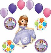 Sofia The First Party Supplies Balloon Bouquet Decorations