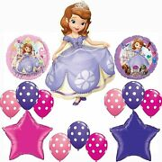 Sofia The First Happy Birthday Party Balloons Decorations Supplies Disney Polka