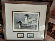 1988 Ducks Unlimited Canada 50th Anniversary Stamp/print Signed Seerey-lester D