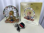 Mr. Christmas Gold Label World's Fair Holiday Ferris Wheel Tested Working Video