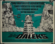 Dr Who And The Daleks 1966 Original 22x28 Movie Poster Peter Cushing Roy Castle