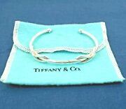 And Co. Sterling Silver Double Infinity Cuff Bracelet