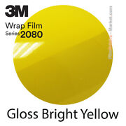 Gloss Bright Yellow 3m 2080 G15 New Series Car Wrapping Total Covering Film