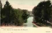 Vintage Postcard - Un-divided 1905 Scene On The Auglaize River St Marys O 5040