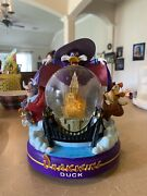 Rare Disney Darkwing Duck Snowglobe 99355 Light Up Musical Beethoven 5th.