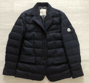 Moncler 3 Giacca Down Padded Smart Black Blazer Jacket Size M Tailored Fit