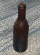 Antique Collectible Coca Cola Amber Knoxville Tn Straight Side Coke Bottle 1900-