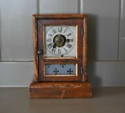 Early Seth Thomas Cottage Clock With Alarm - Running Condition - 1870s-1880s