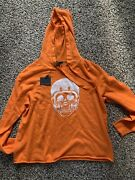 Skull Cashmere Neon Orange Hoodie Size M See The Last Pic For Details