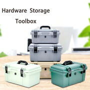 Grey Waterproof Hard Case Travel Fishing Repair Organize Toolboxes With Tray